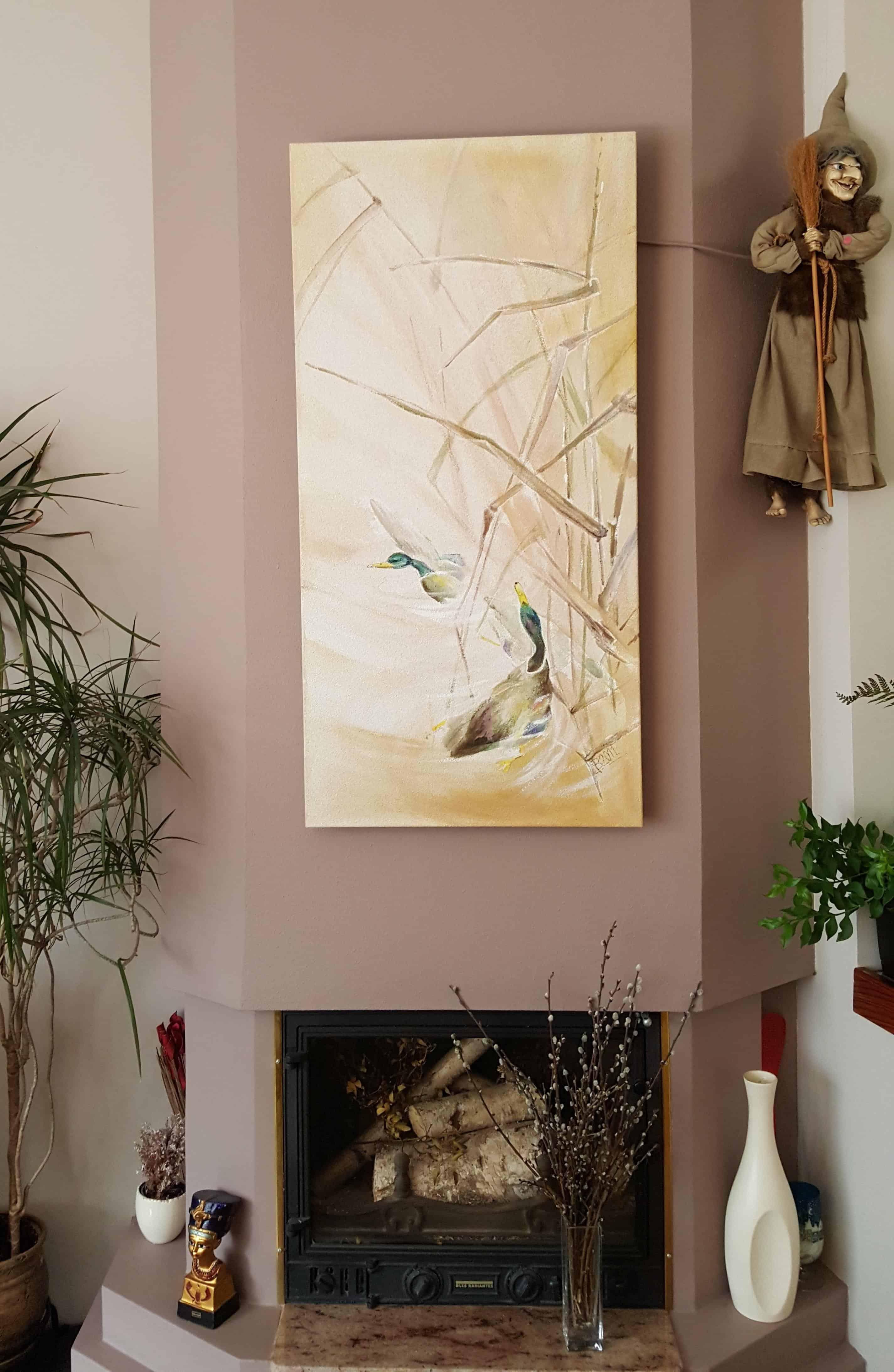 obraz Dzikie kaczki - Promienniki obrazy ręcznie malowane