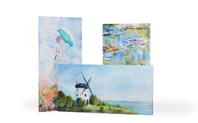 Promienniki obrazy ręcznie malowane